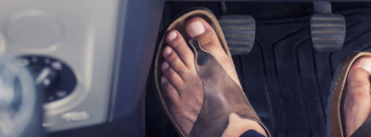 Do you think #driving barefoot should be...