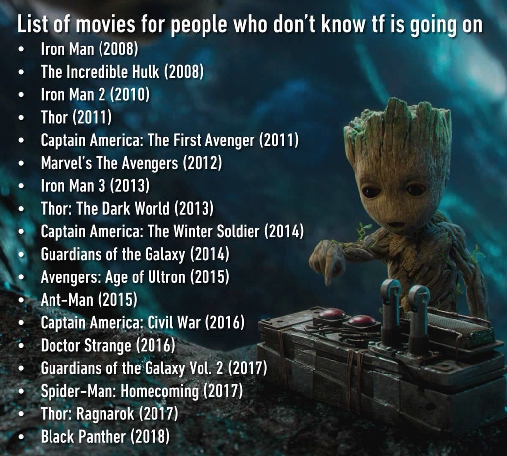 For all the people just now getting hip to #Marvel movies