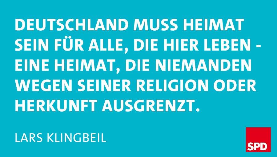 Wir zeigen Haltung. Für Zusammenhalt und Vielfalt. Gegen Ausgrenzung. Danke, @larsklingbeil! #Seehofer