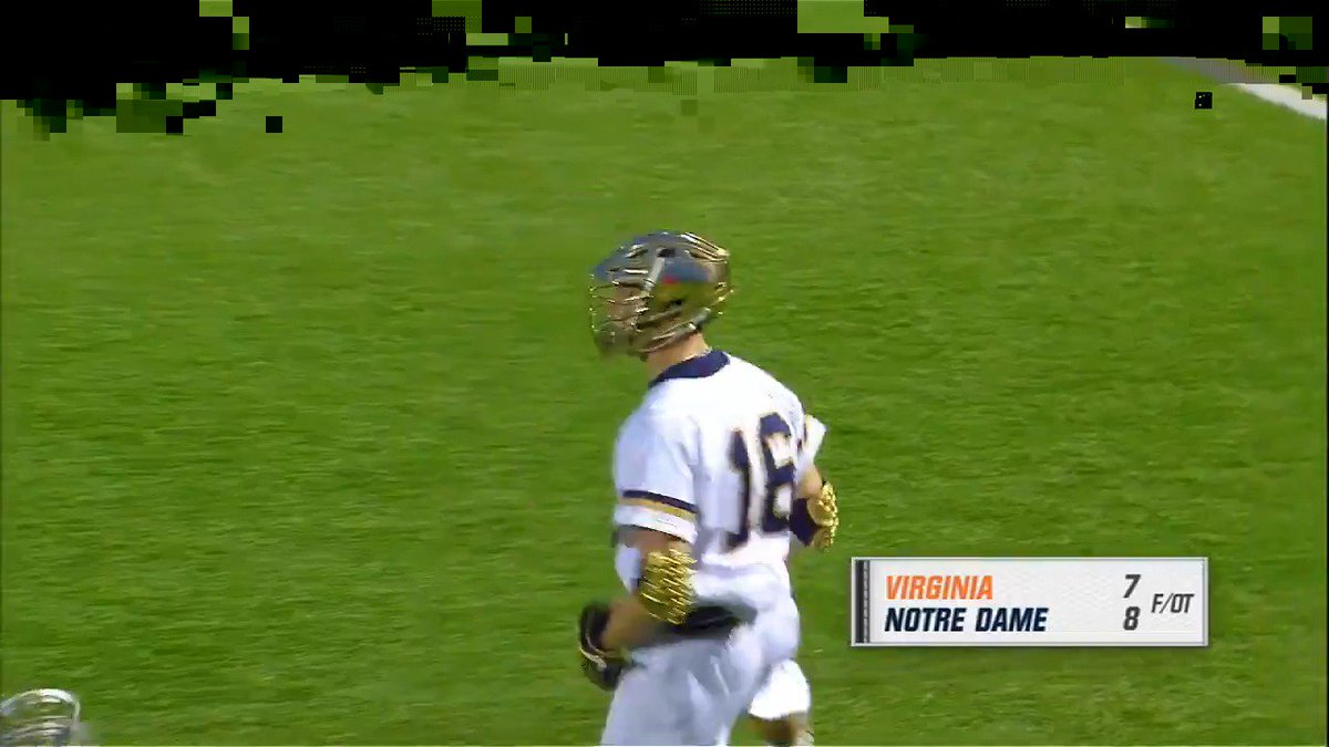 Do you remember the last two times @NDlacrosse and @UVAMensLax met?  Let us remind you before it happens again this Saturday - 6 ET on ESPNU #FreeLax
