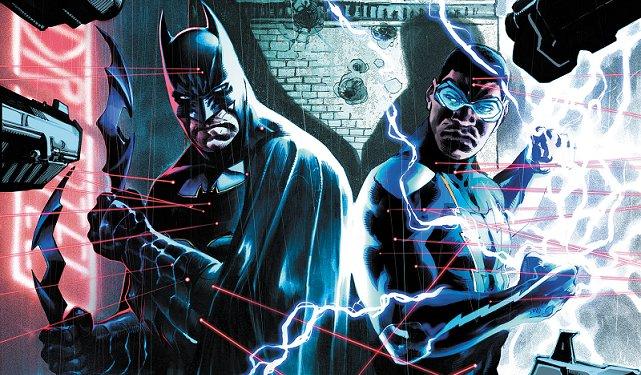 EXCLUSIVE! #BlackLightning meets Batman...