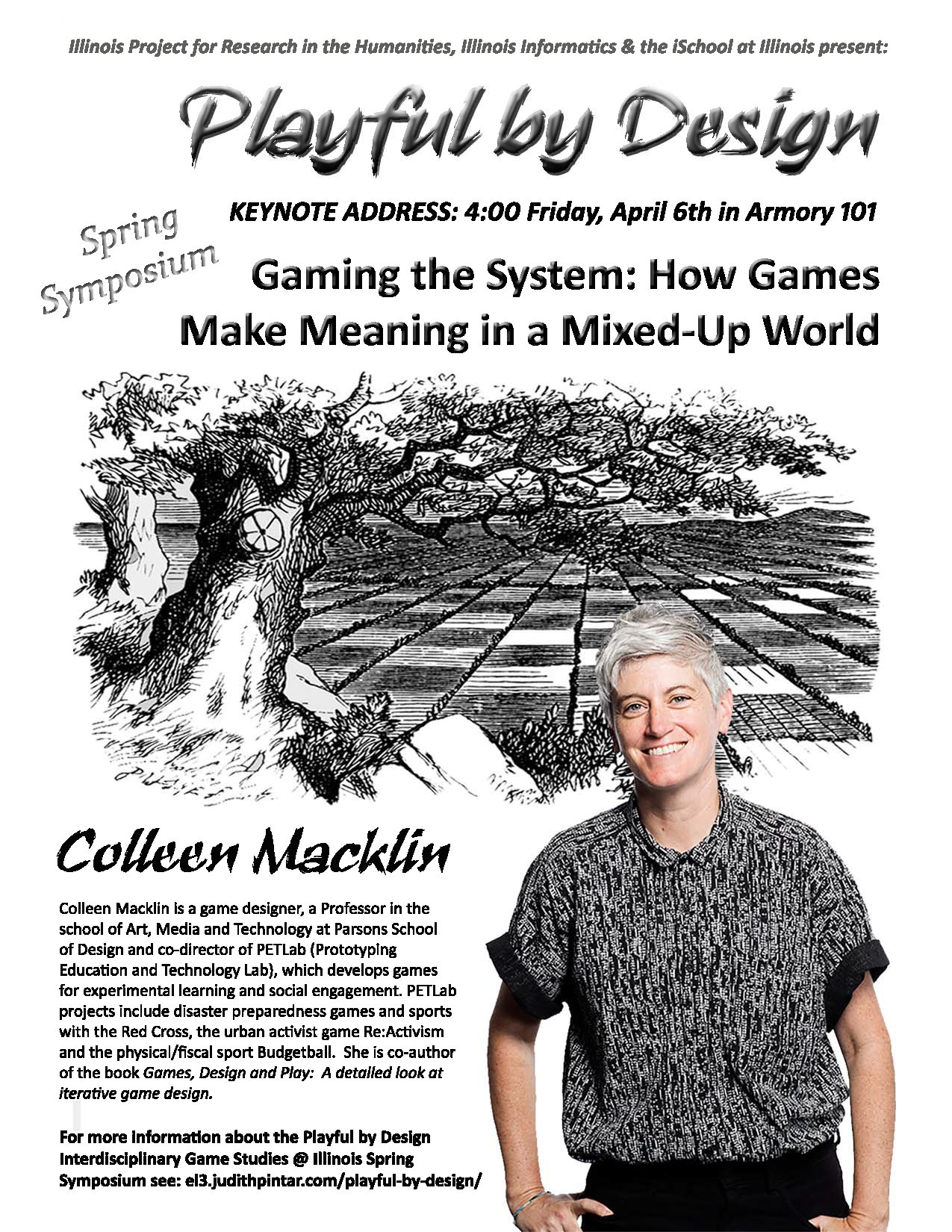 Poster for the keynote speaker, Colleen Macklin