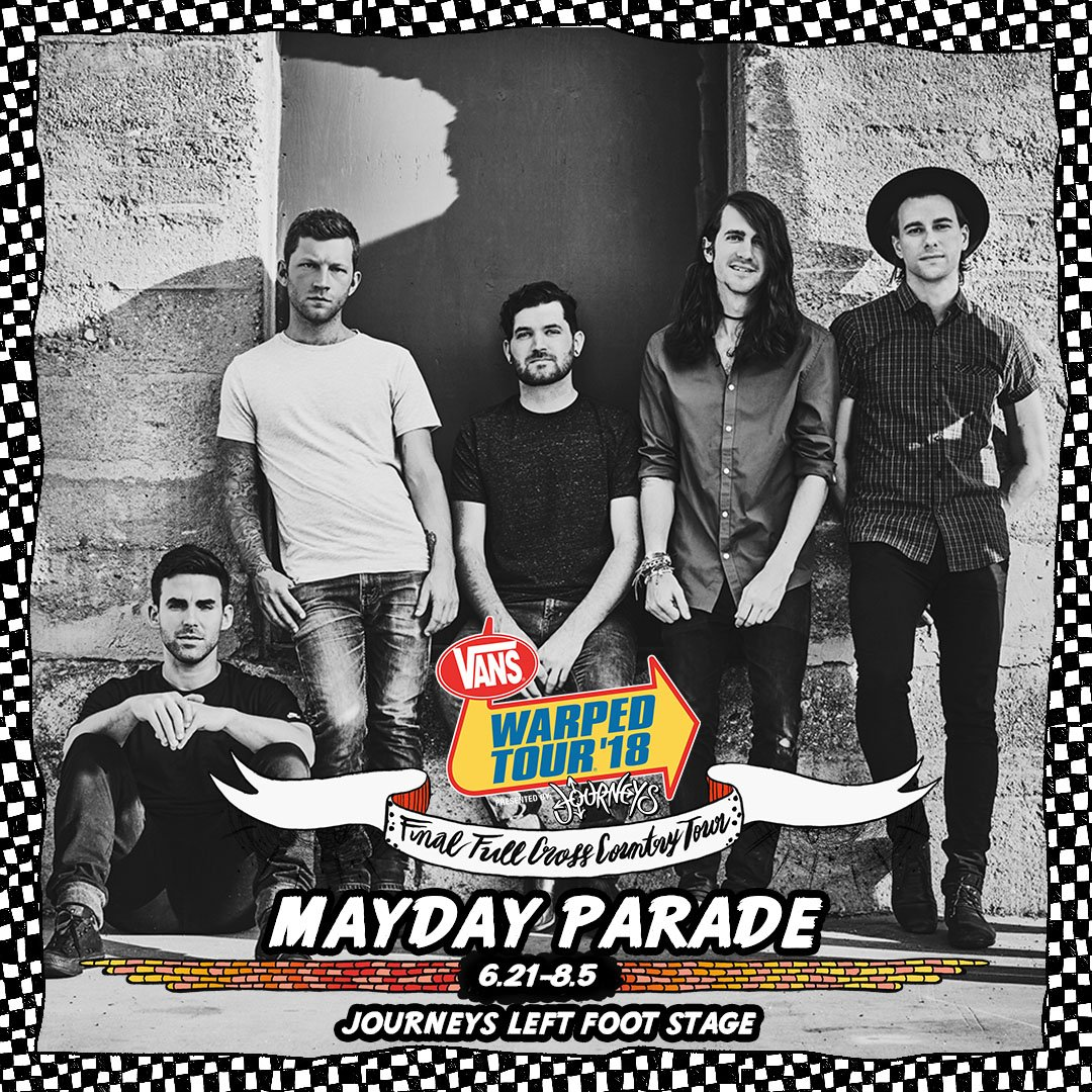 Mayday parade on twitter tickets for the last ever warped tour are mayday parade on twitter tickets for the last ever warped tour are going fast make sure to grab yours before theyre all gone m4hsunfo