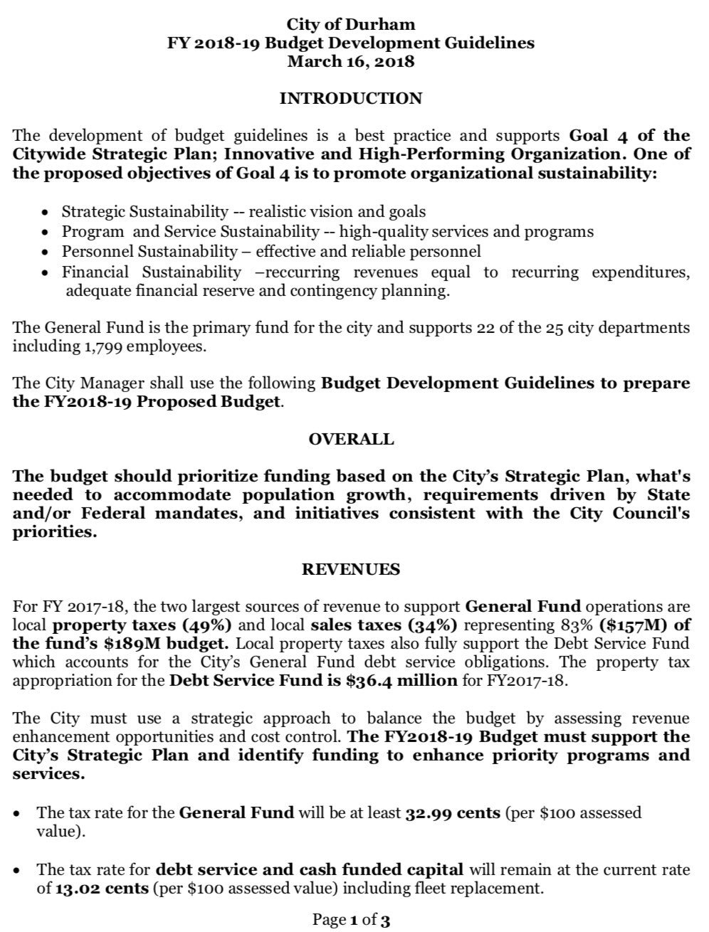 Cityofdurhamnc On Twitter Now We Re Discussing Our Proposed Budget