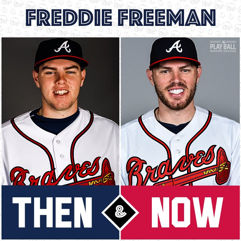 Nearing a decade's worth of @MLB hugs, it's @FreddieFreeman5! https://t.co/dwBD0d4m6z