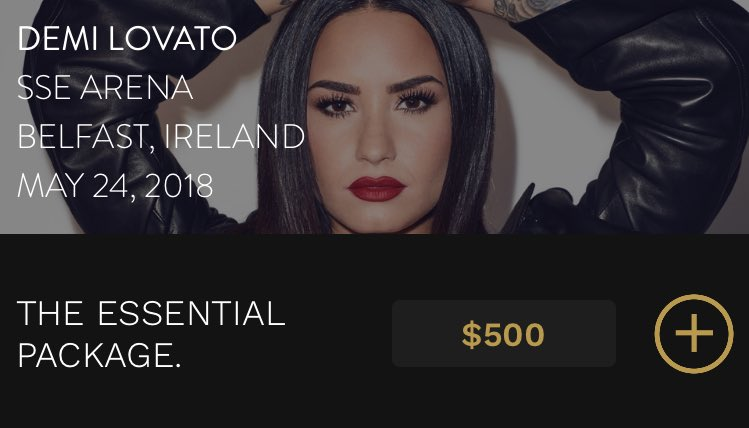 Demi Lovato News On Twitter Tell Me You Love Me Tour Vip Packages For The New European Shows Are On Sale Now On The Host App