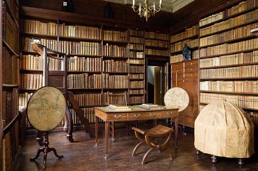 #biblioteca di Ham House , a sud di Richmond a Londra nel Regno Unito-dal web-  - Ukustom