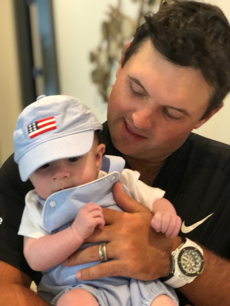 Just hanging out with my little man, Barrett Benjamin after the round yesterday! @nikegolf @Hublot @UltimateHCM Enjoying our time @APinv @PGATOUR #USA