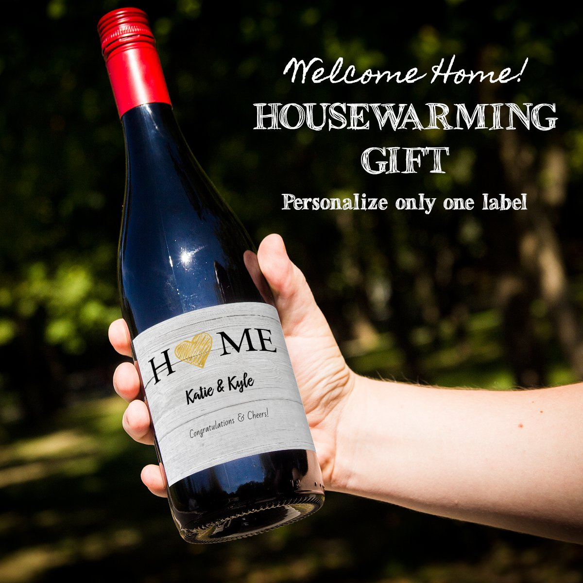642189eaf16 Looking for a home closing or house warming gift? Give them their favorite # wine with a custom label. Order only one!
