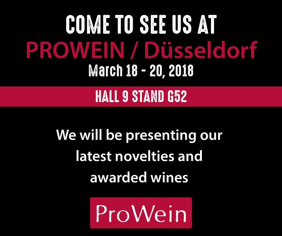 Aresti Chile Wine On Twitter Only 2 Days For A New Prowein Duesseldorf COME AND VISIT US Hall 9 G52 To Taste Novelties And Surprises See You All