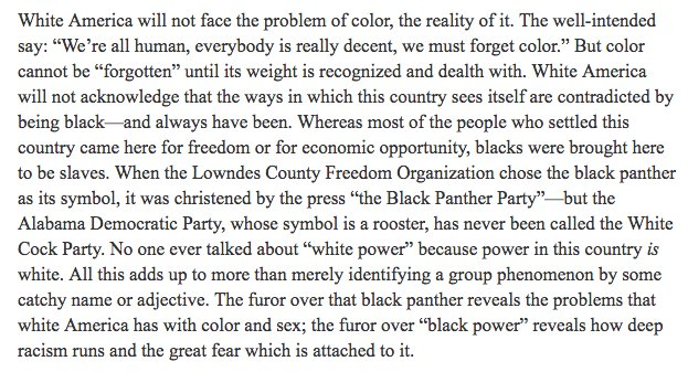 Stokely Carmichael's 1966 essay on Black...