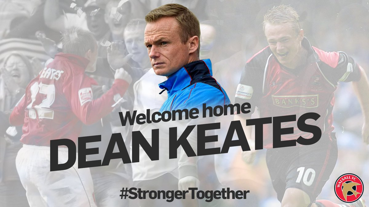 Dean Keates Confirmed as Walsall's New Manager