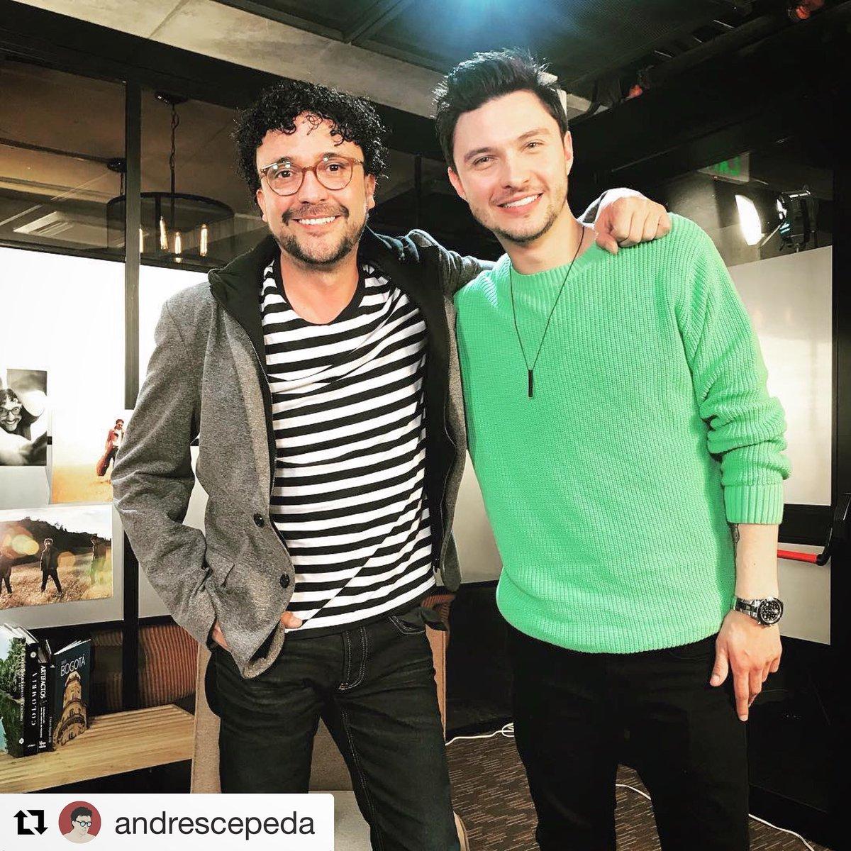 Un placer acompañar hoy a @andrescepeda...