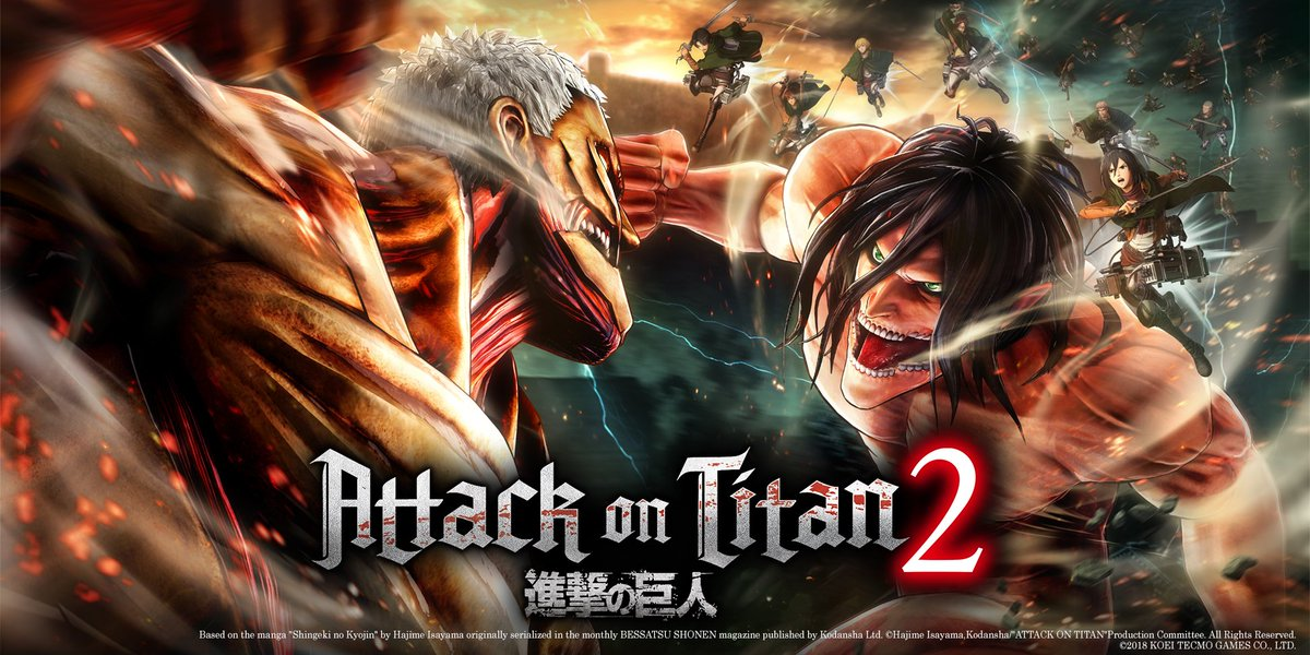Happy #FreeCodeFriday! Thanks to KOEI Tecmo, we have Steam keys for #AttackOnTitan2 to give away!  RT and follow @CORSAIR & @KoeiTecmoUS. Winners will be picked next week - good luck! 👊