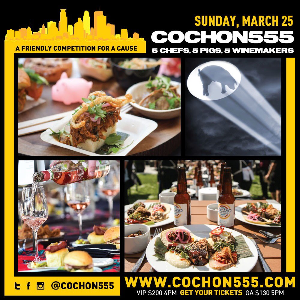The next #COCHON555 US Tour stop is next weekend in #MPLS! Come out for great food and competition, and to support the #goodfood movement! TICKETS for SUNDAY 3/25 —>    https://t.co/HbMW3wPmEO @Loews_Hotels #Minneapolis#MSP#StPaul#Minnesota