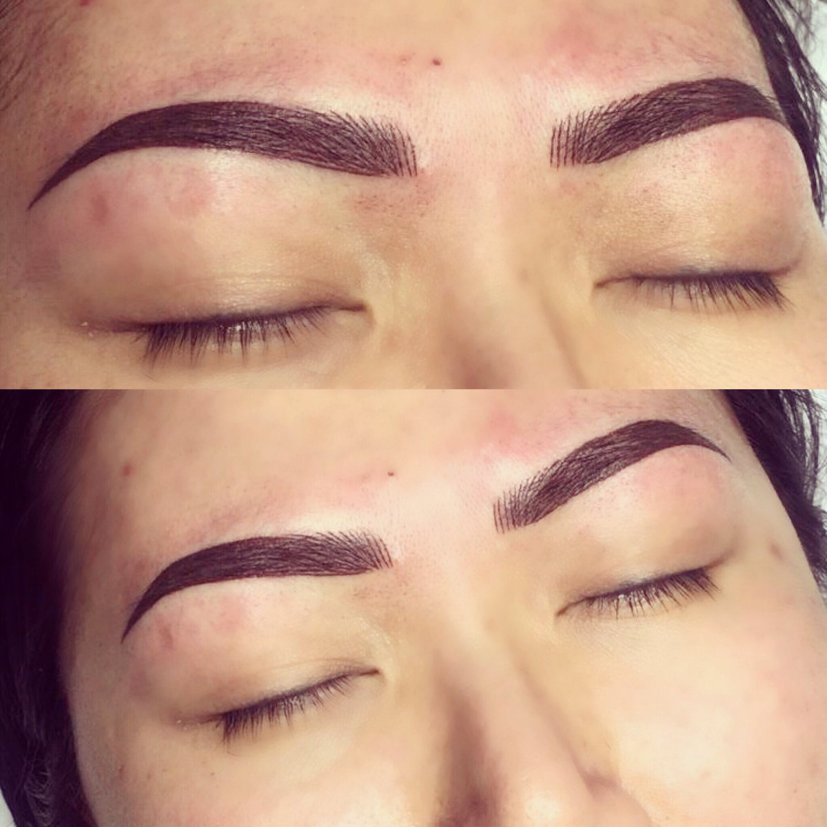 Victoria Adams On Twitter A Powder And Hairstroke Combination Brow