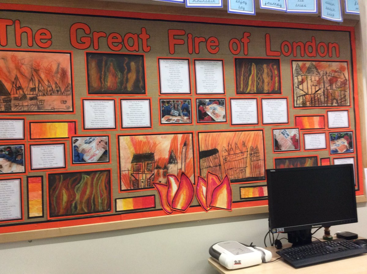 Mrs m on twitter the great fire of london artwork