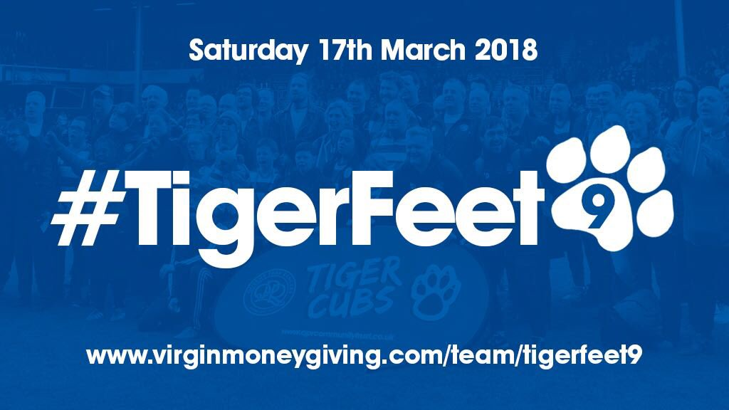 Good luck to everyone doing #TigerFeet9 for #QPR's Down's Syndrome team on Saturday! virginmoneygiving.com/team/tigerfeet9
