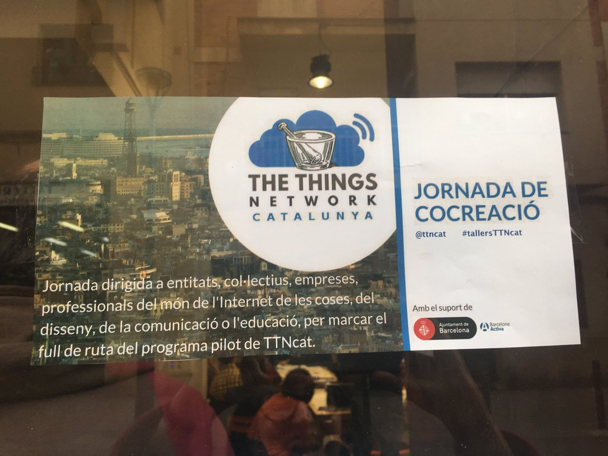 provar Twitter Mitjans - Avui hem estat participat per aterrar l'ús social d'internet de les coses amb @ttncat https://t.co/hAupMECti3
