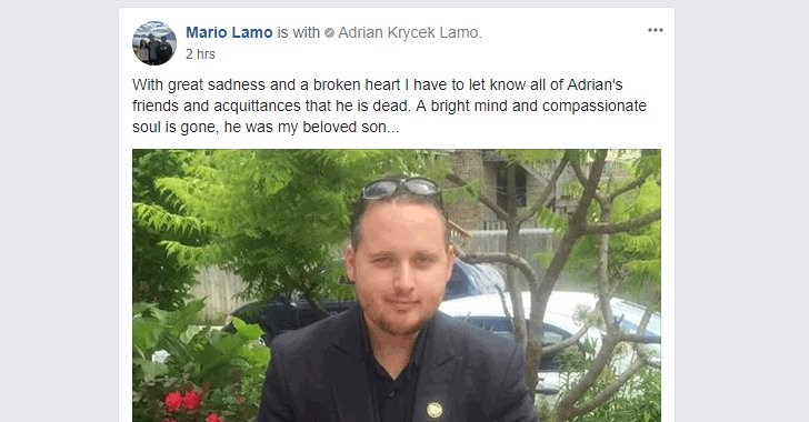 Adrian Lamo Dies at 37 — The Former Hacker Who Tipped off the FBI About Wikileaks Informant Chelsea Manning.  https://t.co/Q1Bxyg67pm  #RIP