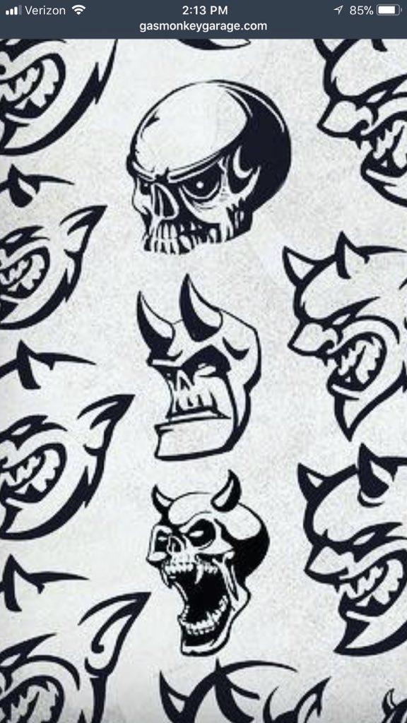 Gas Monkey Garage On Twitter Close To 50 Dodge Demon Logos Went Unused Checkout All The Logos That Failed To Be Https T Co Twkoztufhm