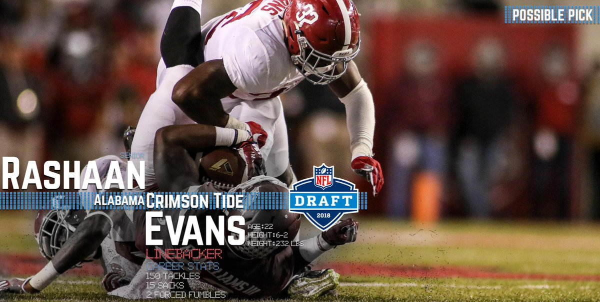 Possible Pick: Rashaan Evans is among the best prospects at an important position of need for the Cowboys.  In-depth analysis ➡️ https://t.co/kBErwXVFpo