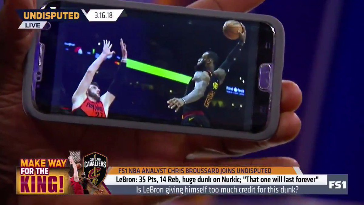 shannonsharpe really changed his screensaver to lebron james poster