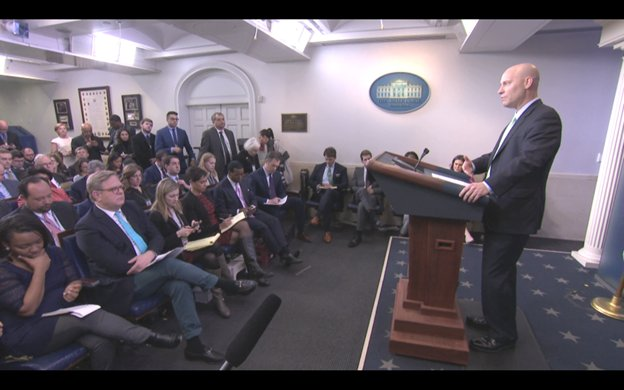 At WH Briefing, @Marcshort45 says it would take 11½ years for all of Pres Trump's nominees to be confirmed due to Senate Dems obstruction.