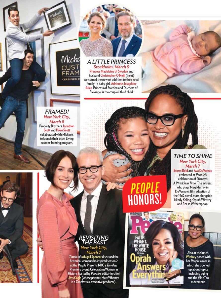 #WrinkleInTime Director #AvaDuVernay and Storm Reid featured in the #PeopleMag. People honored the film with a special edition.