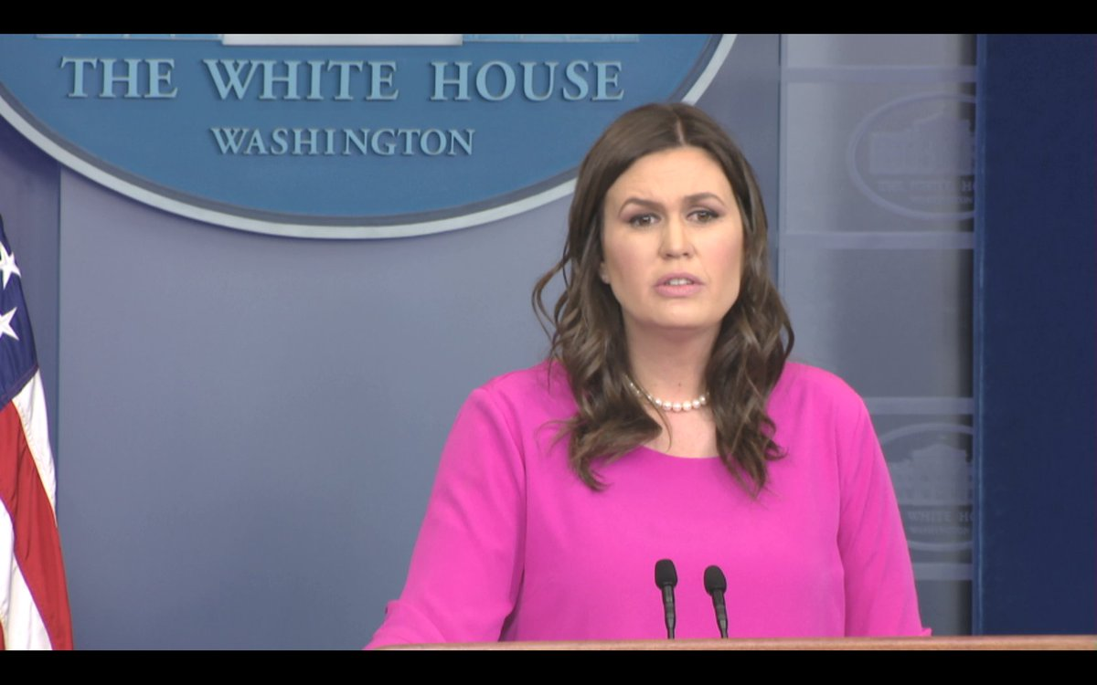 'We don't have any personnel changes at this time,' says @PressSec. Says Pres Trump had meetings with McMaster today, Calls McMaster 'dedicated public servant.' Says our focus not on job changes but on big issues like Korea and Iran.
