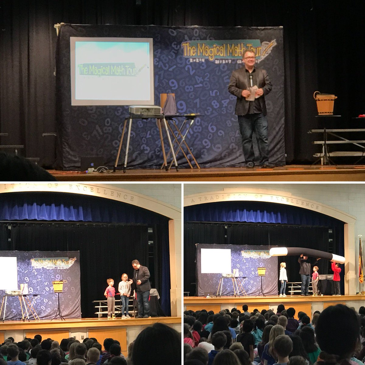 The Magicial Math Tour. Amazing assembly celebrating math! <a target='_blank' href='http://twitter.com/APSMath'>@APSMath</a> <a target='_blank' href='http://search.twitter.com/search?q=STEMday'><a target='_blank' href='https://twitter.com/hashtag/STEMday?src=hash'>#STEMday</a></a> <a target='_blank' href='https://t.co/ELKsZienmc'>https://t.co/ELKsZienmc</a>