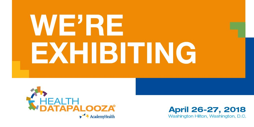 Meet us at the @hdpalooza to explore the most innovative & effective uses of health data. We're exhibiting!  https://t.co/GqjNvyVPMm#hdpalooza