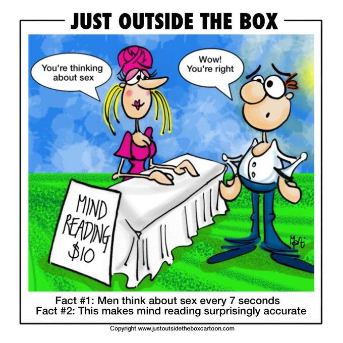#cartoon #funny # sexy #mindreading #fact #loveit #fridayvibes #march #justoutsidethebox https://t.c