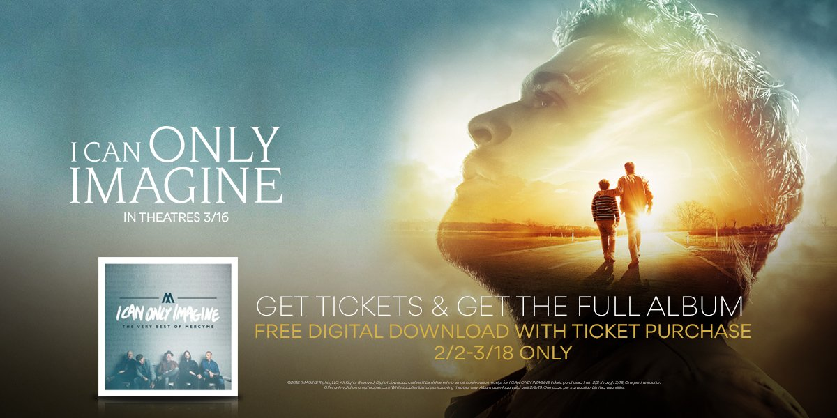 Get #ICanOnlyImagine tickets this weekend & receive a digital album download of The Very Best of @MercyMe. Get tix: amc.film/2FRH7IS