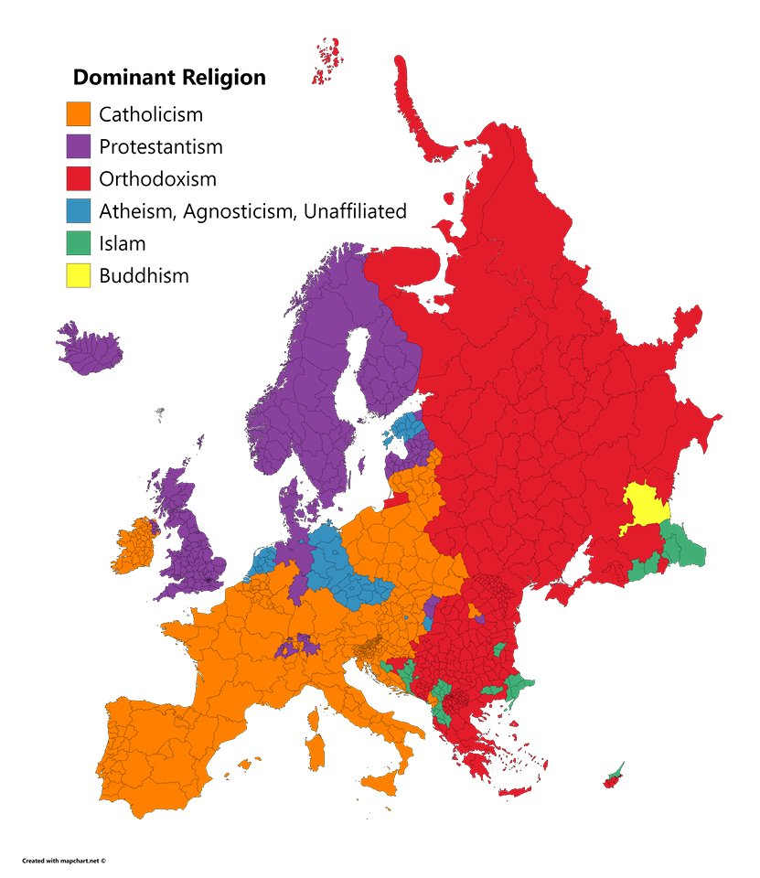 My Country Europe On Twitter Dominant Religions In Europe