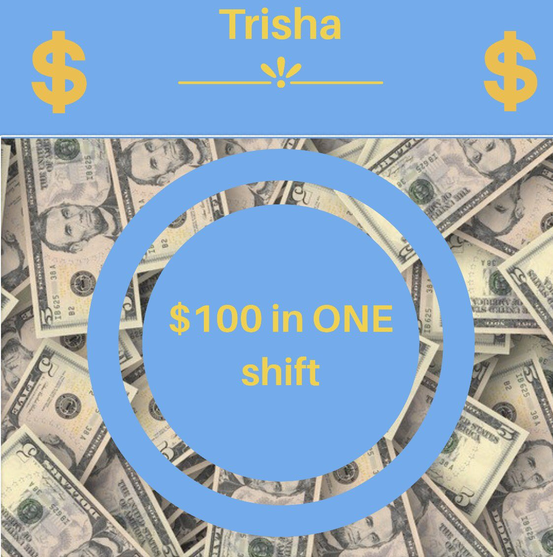 Awesome job Trisha!! #makingmoney #team...
