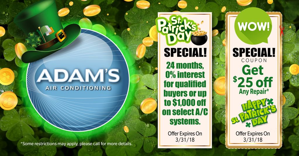 Take advantage of our St. Patty's Day specials before it's too late! Contact us today for details! https://buff.ly/2GA0eZs