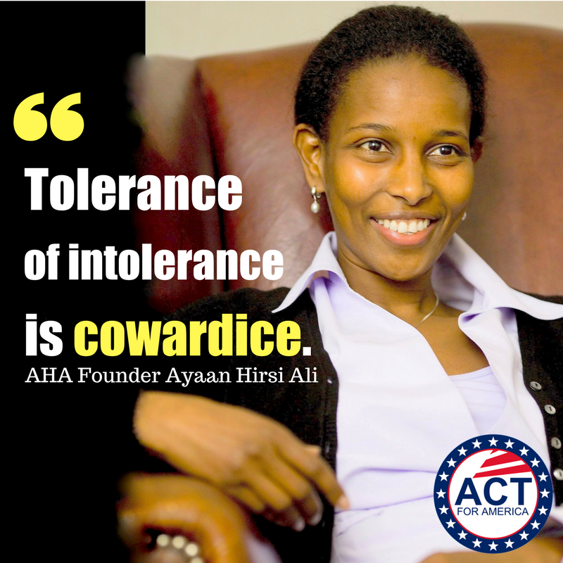 We Agree: 'Tolerance of intolerance is c...
