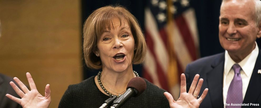 Sen. Tina Smith, Al Franken's replacement in the Senate, says she wishes 'ethics process' for him had run its course. https://t.co/D9mX0rfa5U
