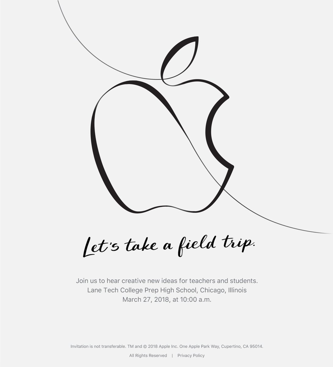 Let the speciation begin.. #AppleEvent in two weeks.. hosted at a school?