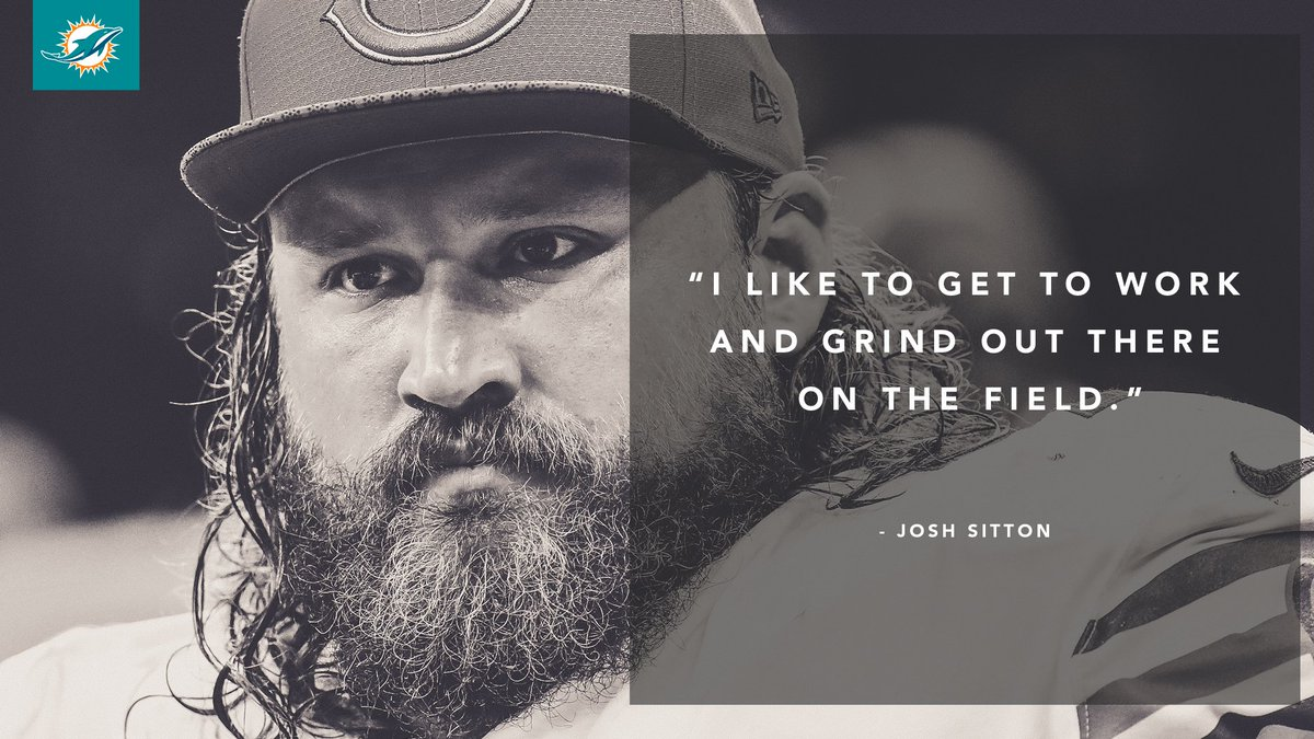 Sitton is ready to get to work.