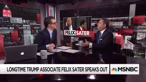 Felix Sater confirms: Trump was pursuing deal with sanctioned Russian bank during campaign https://t.co/XevwrHzYRc