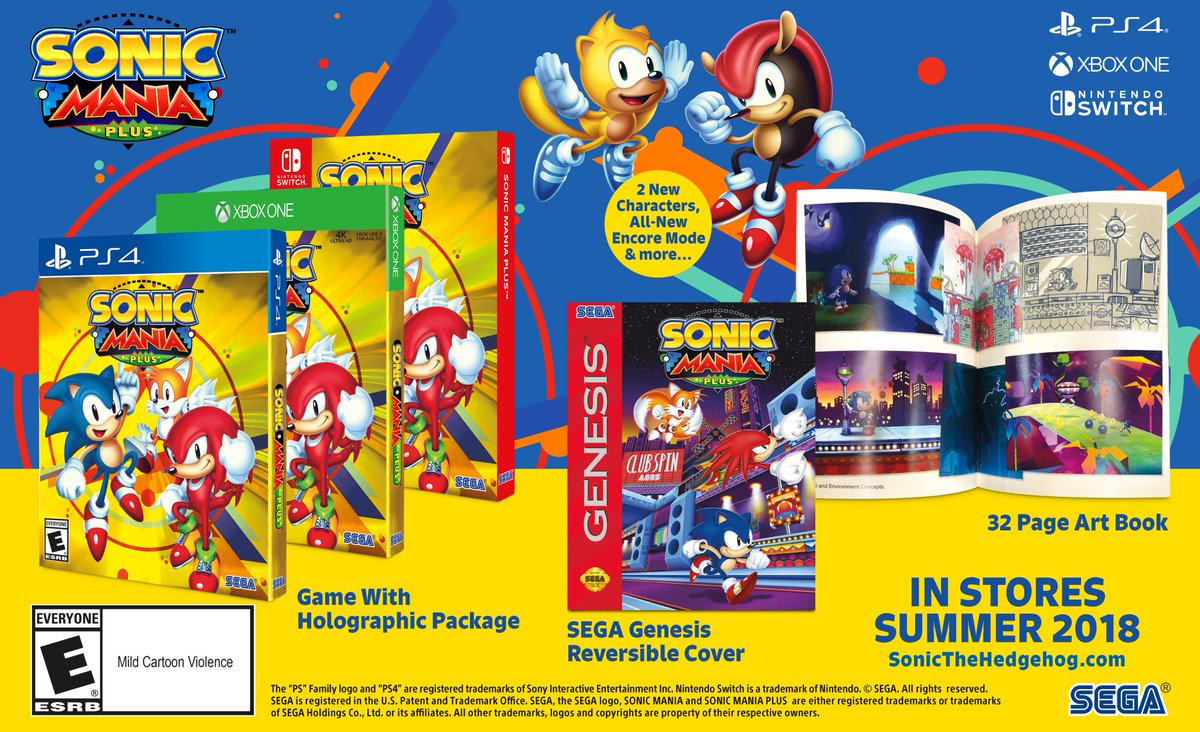 Sonic Mania Plus Adds Characters, Modes On Switch, PS4, And Xbox One