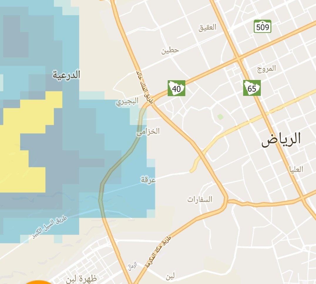 السحب بدأت تدخل أحياء غرب الرياض جهة حي...