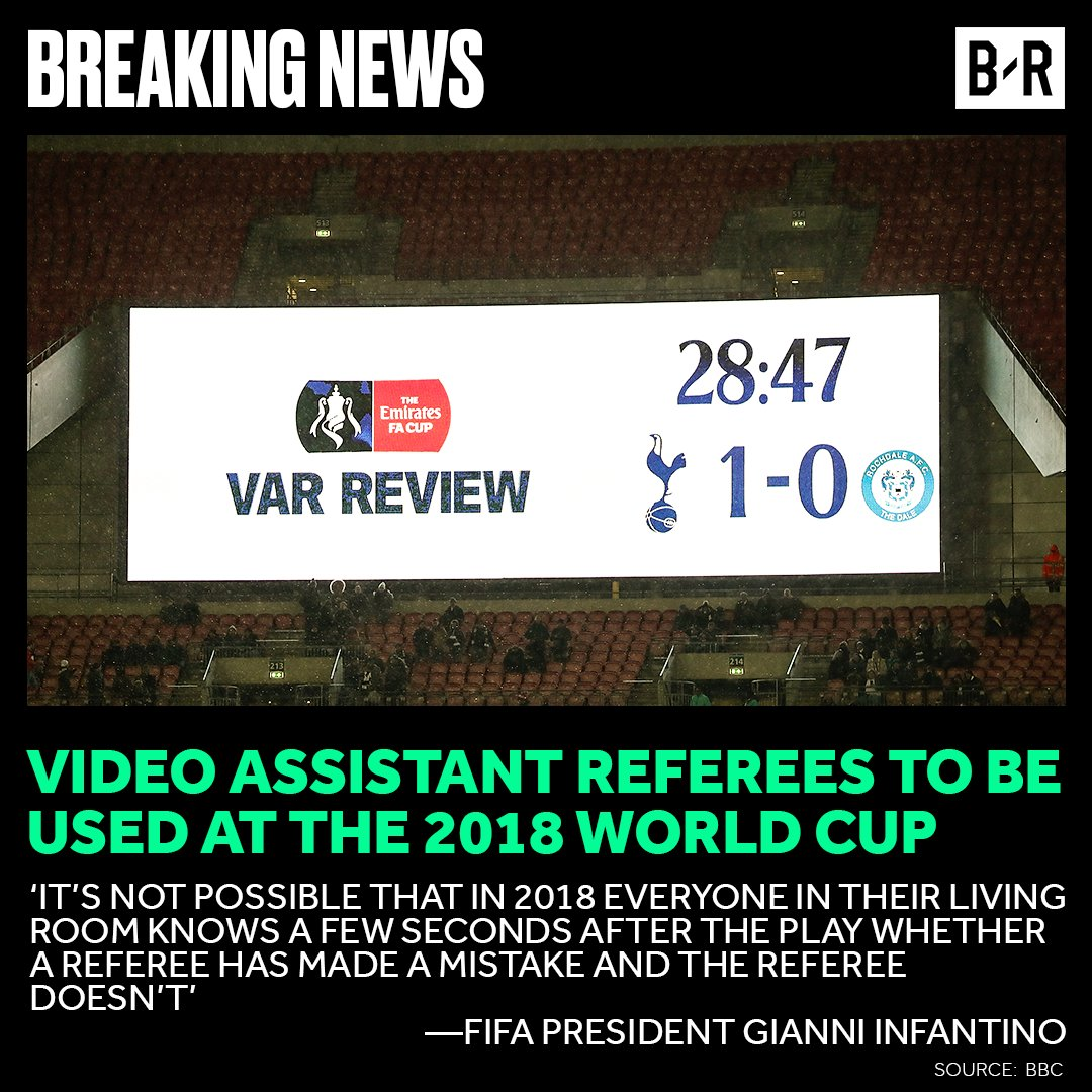 Brace yourselves, VAR is coming. 📺 https...