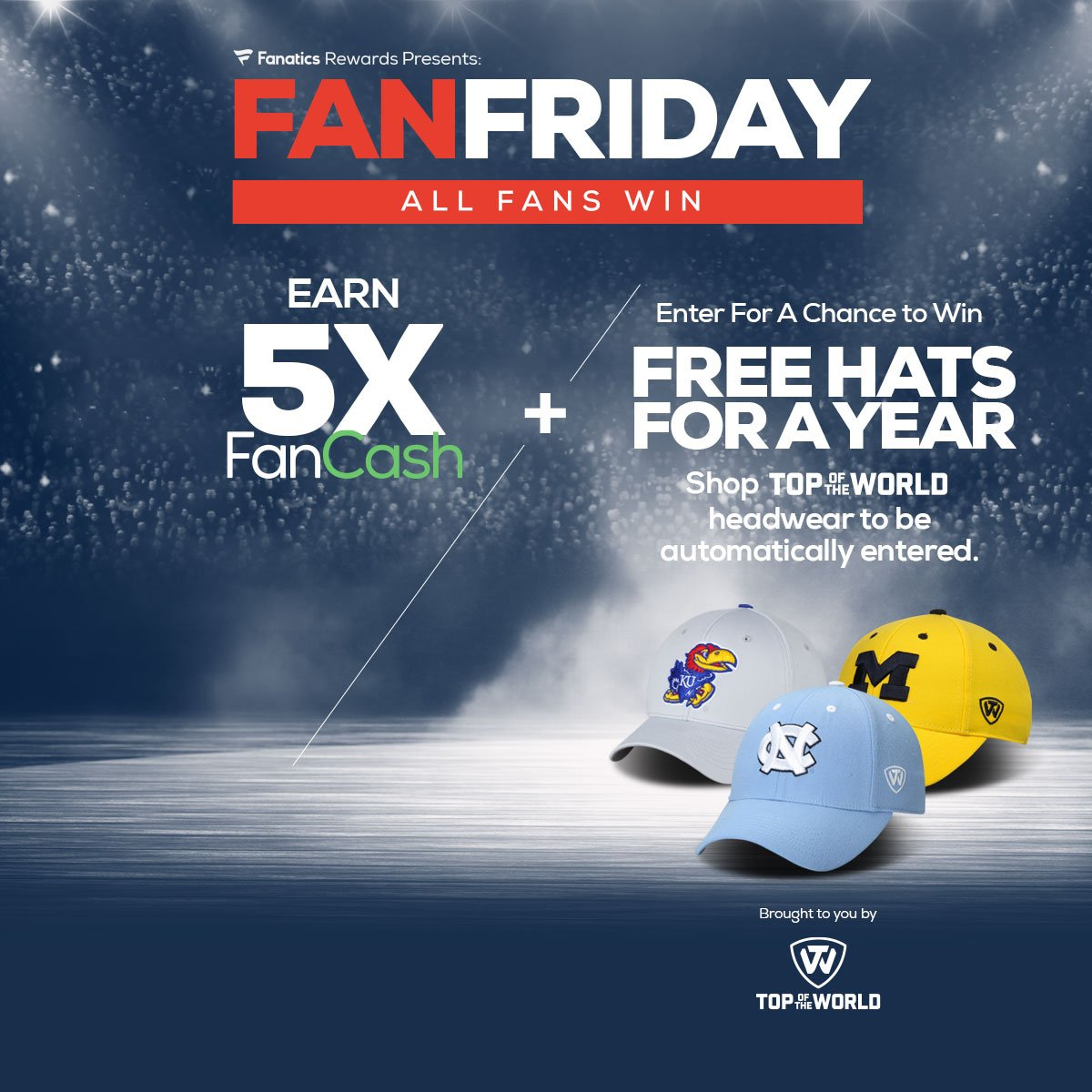 923a3e903  TGIFanFriday is back! Enter to win free hats for a year AND get 5x  FanCash! Enter here  http   bit.ly 2DPwTsD pic.twitter.com 4pKqJRbQN9
