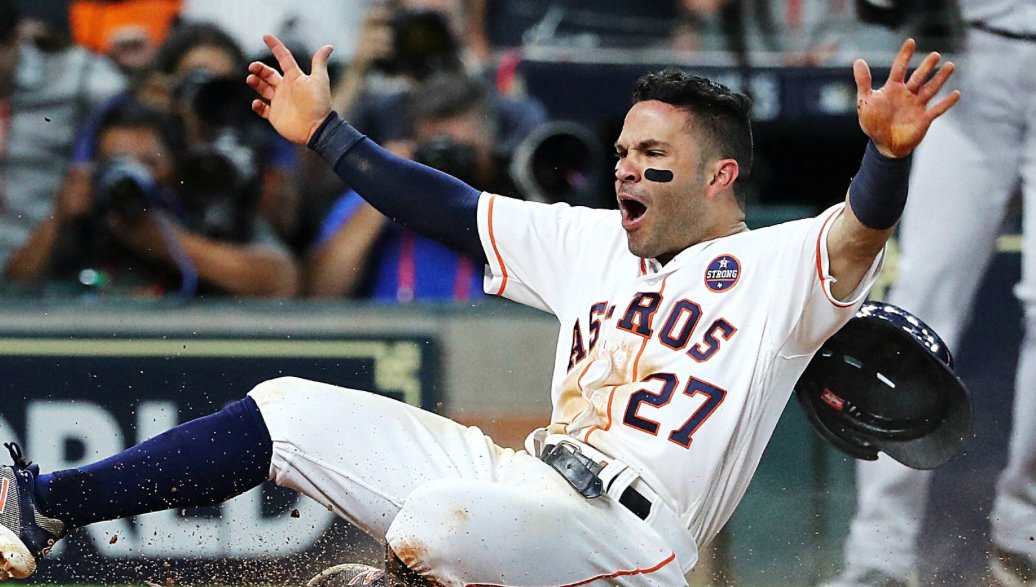 "Tried out for Astros.  Told ""Don't come back.""  Came back anyway.   Given a deal for $15K.  Entering 8th year in league.   Won World Series & AL MVP.  Gets 5-year, $151 million extension.   When you want to give up kids, look no further than Jose Altuve."
