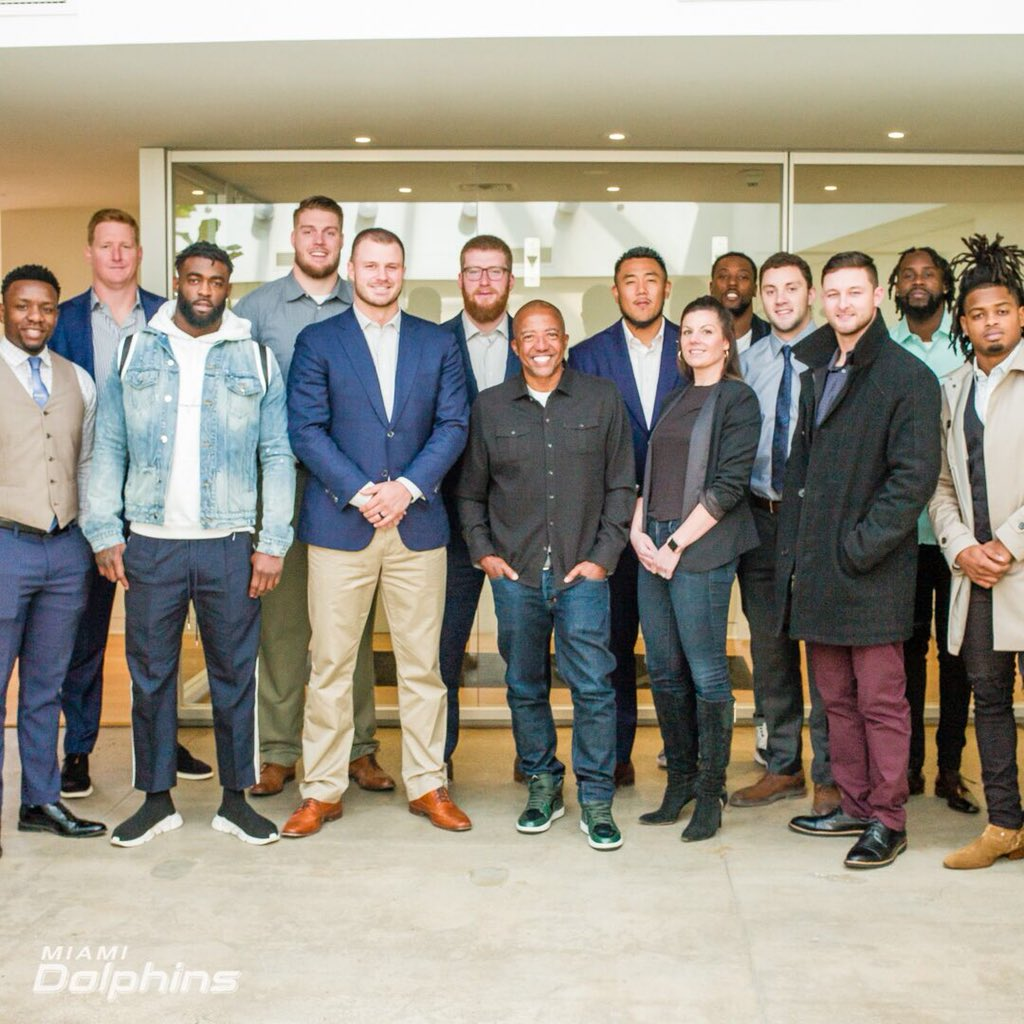 Thankyou @MiamiDolphins and company for an amazing opportunity. I was able to expand my knowledge on how life after football can be successful or success-less.
