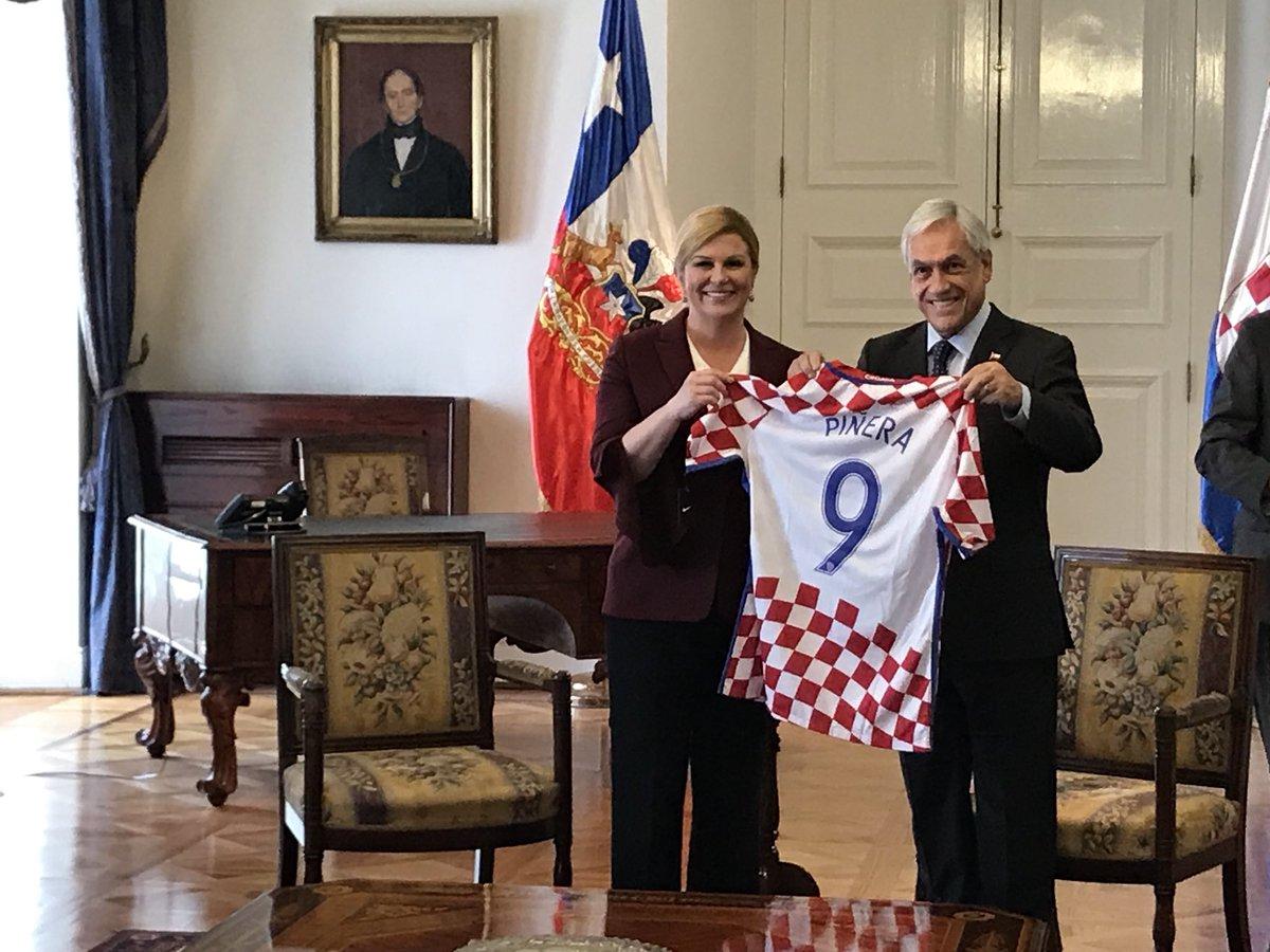 Recibimos en La Moneda, como primera visita a nuestro país, a la Presidenta de Croacia Kolinda Grabar-Kitarović (@KolindaGK). Seguimos estrechando nuestros lazos de amistad y colaboración cultural entre ambos países