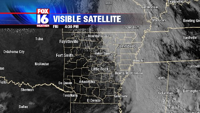Sunshine and dry air over Western Arkans...
